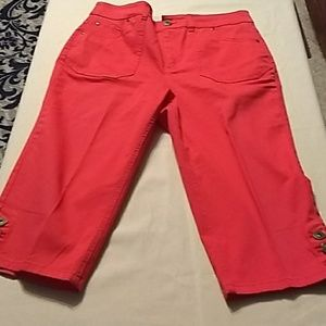 Christopher and banks, pink Capris. Size 10